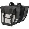Basil Tour Doppeltasche XL schwarz/silber